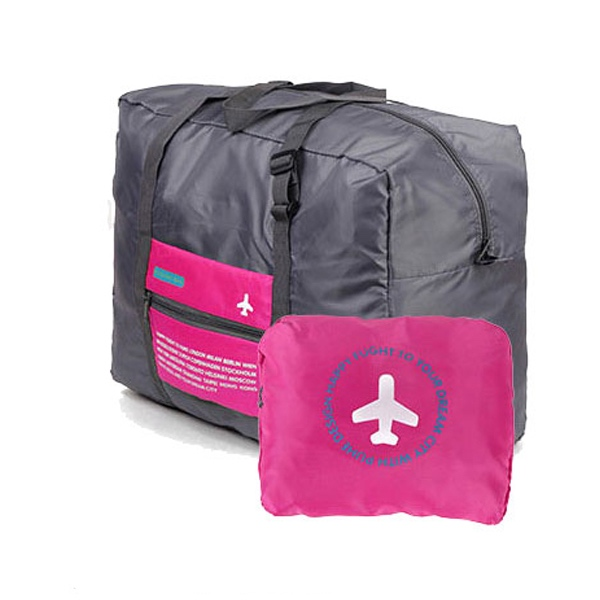 Happy Travel Katlanır Duffle Çanta 32L Pembe