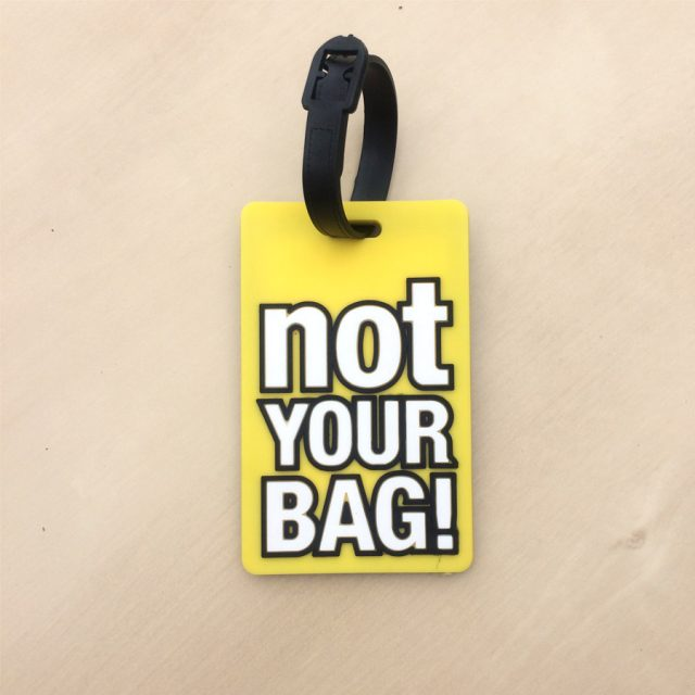 Renkli Bavul Etiketi – Not Your Bag Sarı