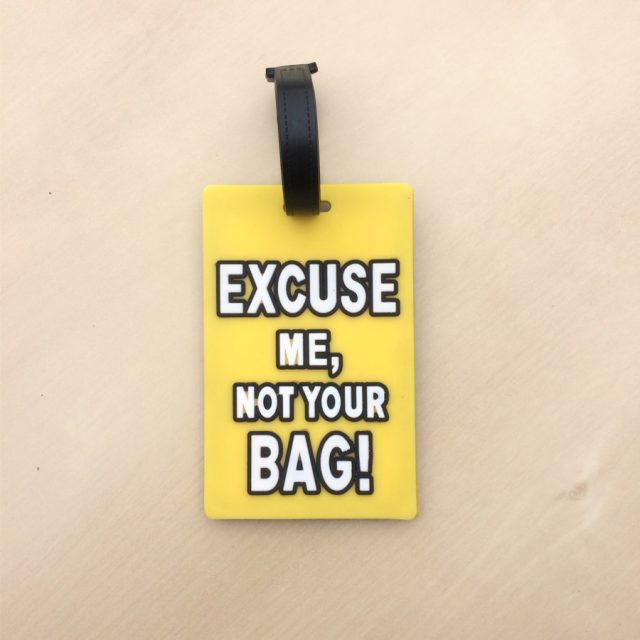 Renkli Bavul Etiketi – Excuse me Not Your Bag